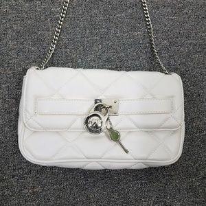 Michael Kors Quilted White Shoulder Bag Purse